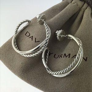 David Yurman crossover hoops 33mm earrings